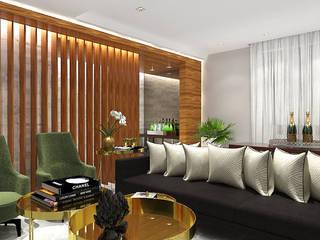 现代客厅設計點子、靈感 & 圖片 根據 Pedro Ivo Fernandes | Arquiteto e Urbanista 現代風