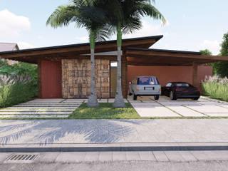 Vista fachada:   por Studio Santoro Arquitetura
