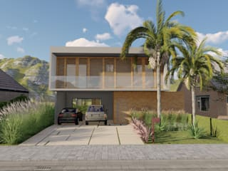 Fachada: Casas  por Studio Santoro Arquitetura