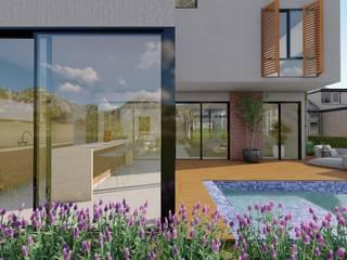 Vista externa: Piscinas  por Studio Santoro Arquitetura