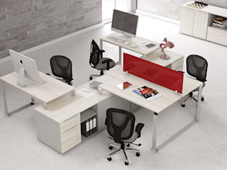 Oficinas y bibliotecas de estilo moderno de GREAT+MINI Moderno