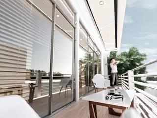 Balcón de estilo  por Am arquitectura