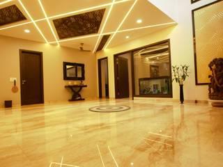 Kalatmak Space Eclectic style corridor, hallway & stairs Marble Brown