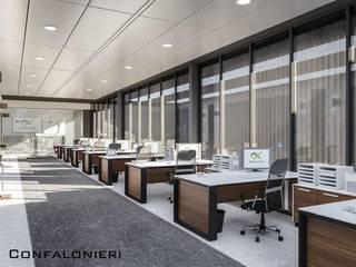 Uffici Rigamonti Complesso d'uffici moderni di Denis Confalonieri - Interiors & Architecture Moderno