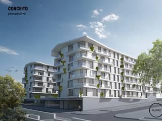 MJARC - Arquitetos Associados, lda Casas multifamiliares Hormigón reforzado
