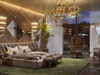 Частный дом 350 м2 Спальня в стиле модерн от ED - Architect & design STUDIO Модерн