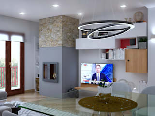 Living room by Santoro Design Render, Modern