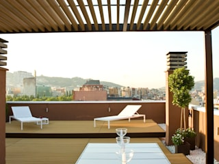 Exteriores Meridiana: Terrazas de estilo  de ESTUDIO DE CREACIÓN JOSEP CANO, S.L.,