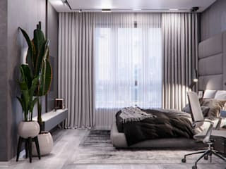 Проектно-строительная компания УралДеко의  침실, 미니멀