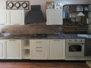 Cucina shabby moderna: Cucina attrezzata in stile  di nuovimondi di Flli Unia snc