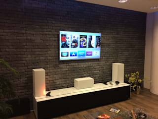Modern media room by Empyre Systems Modern