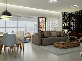 Mais Arquitetura 34 Living roomSofas & armchairs Grey