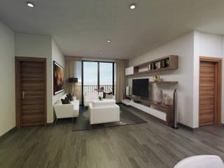 Sala/recibidor: Salas de estilo  por Amereida Arquitectos