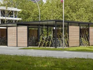 Fahrradeinhausung mit Raucherlounge Klassische Bürogebäude von projekt w – Systeme aus Stahl GmbH Klassisch
