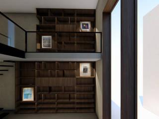Remodelación y diseño mobiliario (Colaboración en TWA México) de doblev.arq Moderno