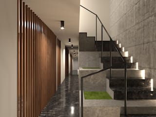 Diseño para residencia en colonia Cuauhtémoc (Colaboración en TWA México) de doblev.arq