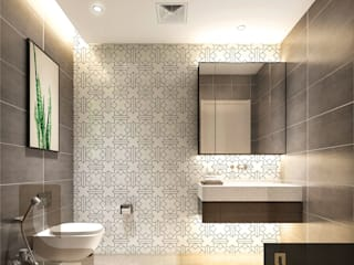 Luxury Solutions Mediterranean style bathroom Tiles Brown