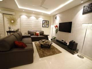 RESIDENCE PROJECT Minimalist living room by Rashi Agarwal Designs Minimalist
