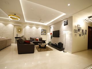 RESIDENCE PROJECT Asian style living room by Rashi Agarwal Designs Asian