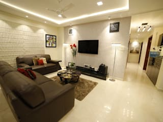 RESIDENCE PROJECT Modern living room by Rashi Agarwal Designs Modern