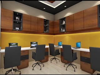 office interior by divine architects