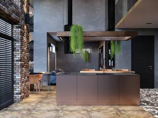 3D Визуализация гостиной в таунхаусе от Александр Таран