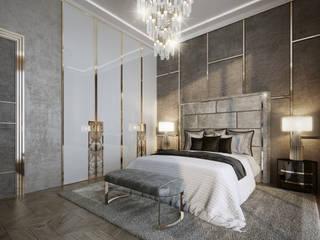 Dormitorios de estilo clásico de GLAZOV design group концептуальная студия дизайна интерьеров Clásico