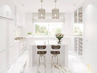 Biała kuchnia z calacattą: styl , w kategorii Kuchnia na wymiar zaprojektowany przez Elegance of Tailors