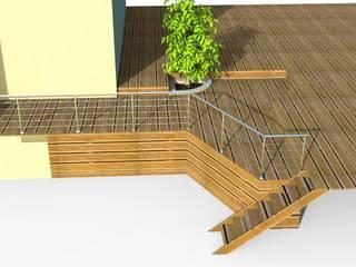 Extension terrasse Balcon, Veranda & Terrasse modernes par Quantum Design Moderne