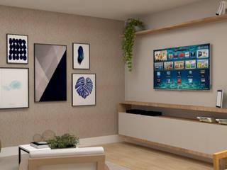 La Decora 现代客厅設計點子、靈感 & 圖片 Wood effect