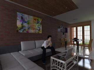 ARDI Arquitectura y servicios Modern living room Concrete Multicolored