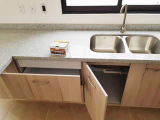 Idee diseño & mobiliario Dapur Minimalis Kayu Buatan Wood effect