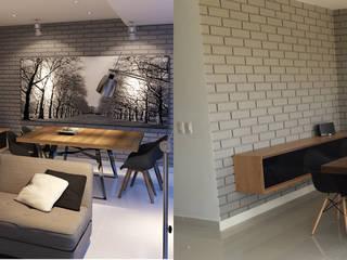 Idee diseño & mobiliario Ruang Makan Minimalis Kayu Wood effect