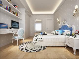 yatak odası avangard mimarlık Kırsal/Country