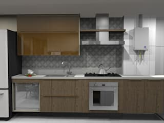 fogão: Armários e bancadas de cozinha  por Ana Adriano Design de Interiores