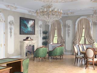 кабинет руководителя Рабочий кабинет в классическом стиле от Эксклюзив Интерьер Классический