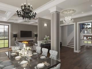 Современный американец Столовая комната в стиле модерн от Эксклюзив Интерьер Модерн