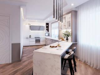 Квартира ЖК золотая подкова Кухня в стиле модерн от Эксклюзив Интерьер Модерн