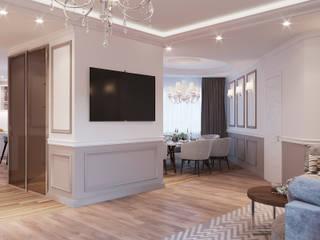 Квартира ЖК золотая подкова Гостиная в стиле модерн от Эксклюзив Интерьер Модерн
