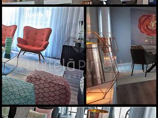 Apartamento modelo Montijo Salas de estar ecléticas por Hortelã Pimenta Interiores Eclético