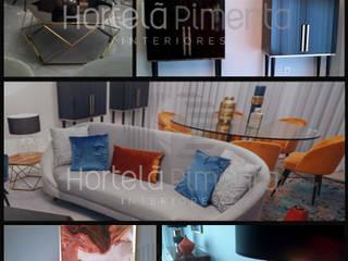 Apartamento Modelo Salas de estar modernas por Hortelã Pimenta Interiores Moderno