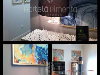 Apartamento Modelo Corredores, halls e escadas modernos por Hortelã Pimenta Interiores Moderno