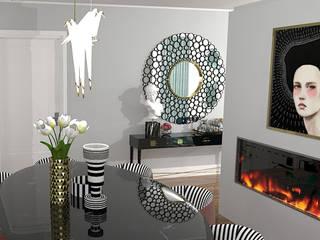 Projecto 3D Sala Salas de jantar modernas por Hortelã Pimenta Interiores Moderno