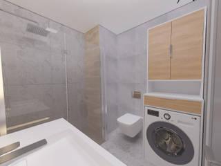 28 Dairelik Binanın iç mekan tasarım ve uygulama projesi ASN İç Mimarlık Modern Banyo Granit Gri