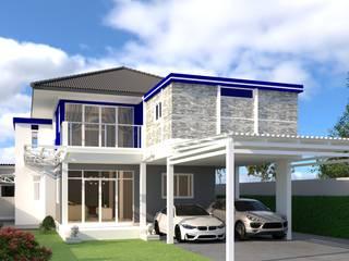 บริษัท พี นัมเบอร์วัน ดีไซน์ แอนด์ คอนสตรัคชั่น จำกัด Casas de estilo rural