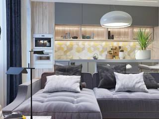 Кухня-гостиная: Встроенные кухни в . Автор – GELA_design