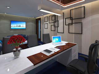 Office Interior Design Modern office buildings by Bhuvith Creations Modern