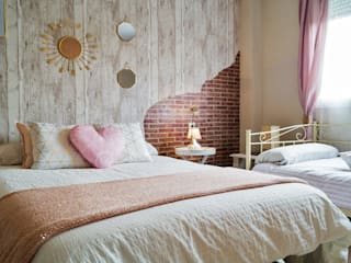 Housing & Colours Scandinavian style bedroom Bricks Pink