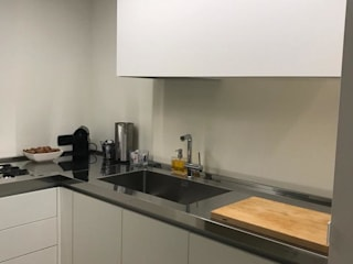 SteellArt Cocinas de estilo moderno Blanco