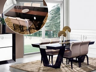 Decordesign Interiores Dining roomTables Engineered Wood Black